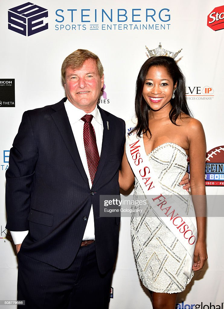 Sports agent <a gi-track='captionPersonalityLinkClicked' href=/galleries/search?phrase=Leigh+Steinberg&family=editorial&specificpeople=221448 ng-click='$event.stopPropagation()'>Leigh Steinberg</a> and Miss San Francisco 2015 Felicia Stiles attend the 29th Annual <a gi-track='captionPersonalityLinkClicked' href=/galleries/search?phrase=Leigh+Steinberg&family=editorial&specificpeople=221448 ng-click='$event.stopPropagation()'>Leigh Steinberg</a> Super Bowl Party on February 6, 2016 in San Francisco, California.