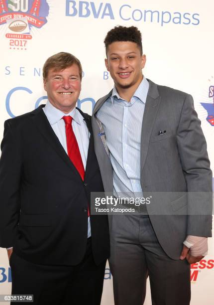 Sports agent/event host Leigh Steinberg and football player Patrick Mahomes II attend the 30th Annual Leigh Steinberg Super Bowl Party on February 4...