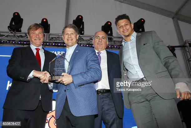 Sports agent/event host Leigh Steinberg Chairman CEO of the NFL's Kansas City Chiefs Clark Hunt entrepreneur Cosmo DeNicola and football player...