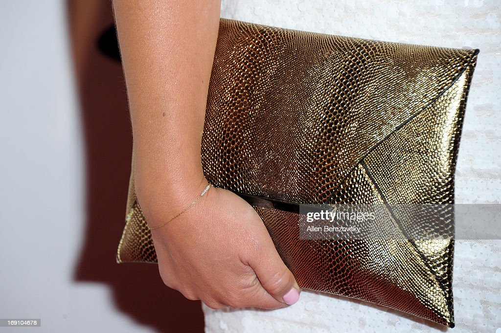 Sports anchor Jaime Maggio (purse detail) arrives at the Sports Spectacular 28th Anniversary Gala at the Hyatt Regency Century Plaza on May 19, 2013 in Century City, California.