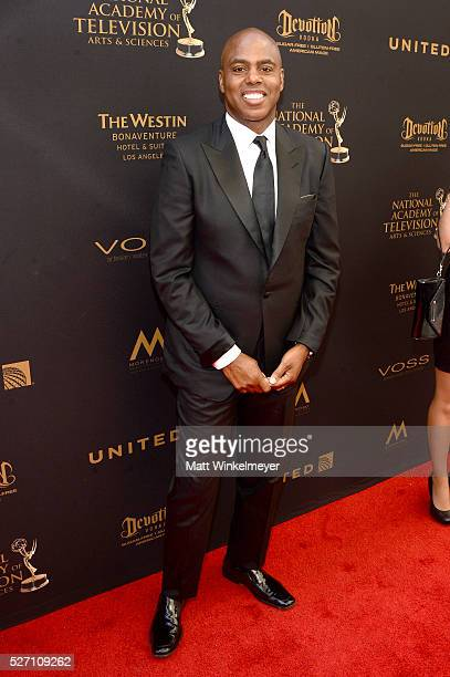 Sports anchor Kevin Frazier walks the red carpet at the 43rd Annual Daytime Emmy Awards at the Westin Bonaventure Hotel on May 1 2016 in Los Angeles...