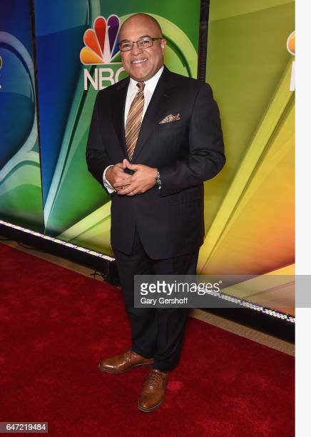 Sports announcer Mike Tirico attends the NBCUniversal Press Junket at the Four Seasons Hotel New York on March 2 2017 in New York City