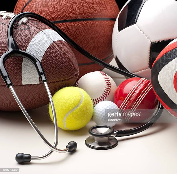 Sports balls with stethescope