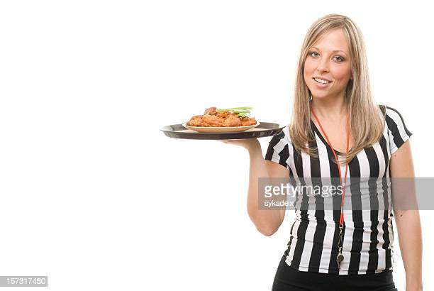 Sports Bar Waitress with Buffalo Wings
