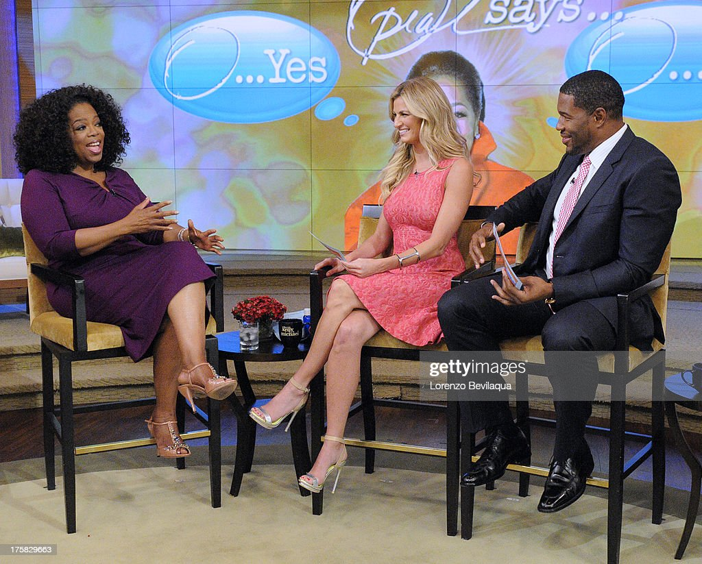 Sports broadcaster ERIN ANDREWS is Michaels co-host this morning and Icon Oprah Winfrey talks about the new film 'The Butler' on 'LIVE with Kelly and Michael,' distributed by Disney-ABC Domestic Television. STRAHAN