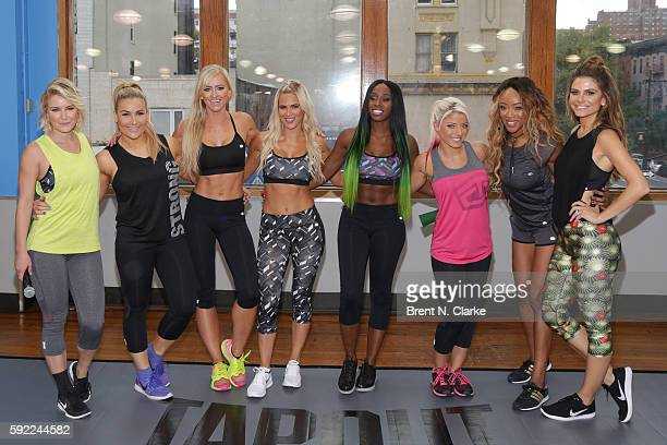 Sports broadcaster Renee Young professional wrestlers Natalya Summer Rae Lana Naomi Alexa Bliss Alicia Fox and author/professional wrestler Maria...