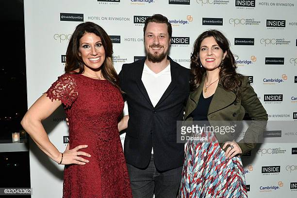 Sports broadcaster Tina Cervasio Inside Sport Group cofounder Adam Hall and New Orleans Saints and New Orleans Pelicans coowner Rita LeBlanc attend...