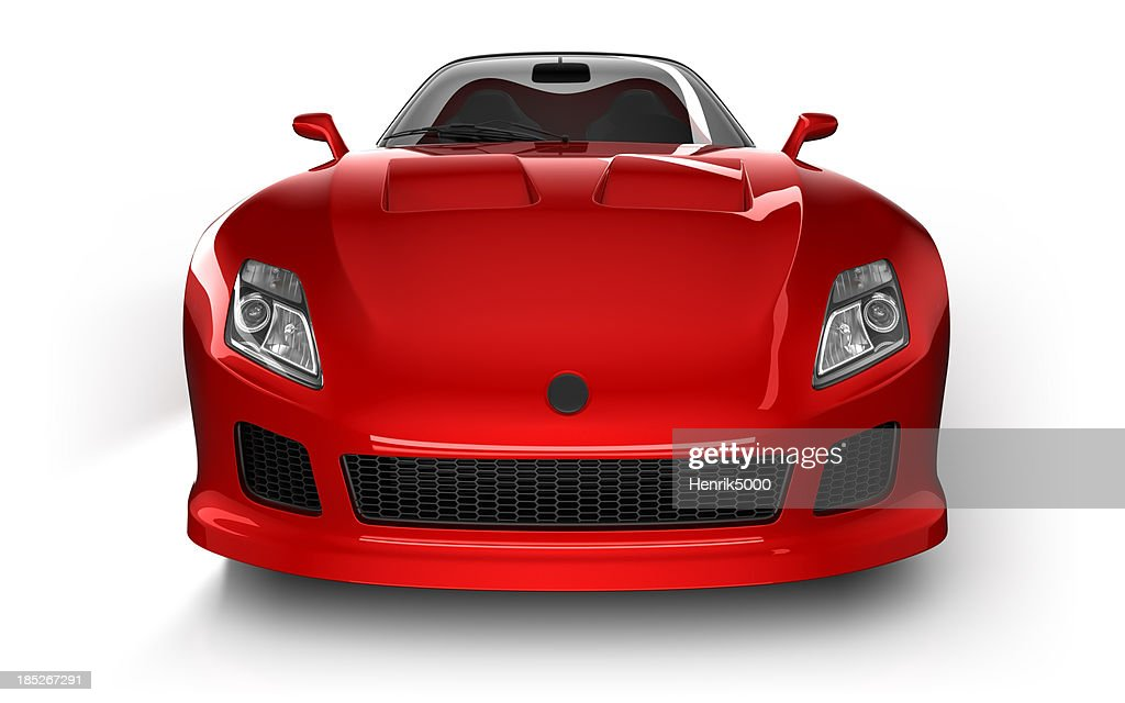 Sports car in studio - isolated on white/clipping path : Stock Photo