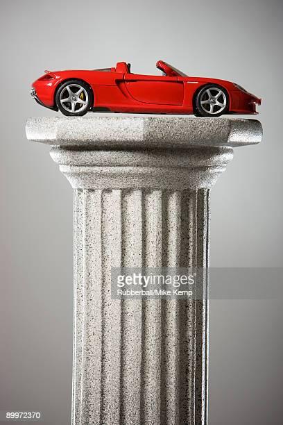 sports car on a pedestal