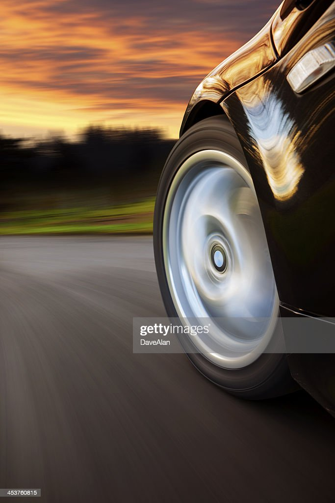 Sports Car Speed Sunset.