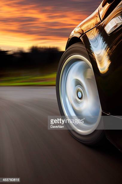 Sports Car Speed Sunset.