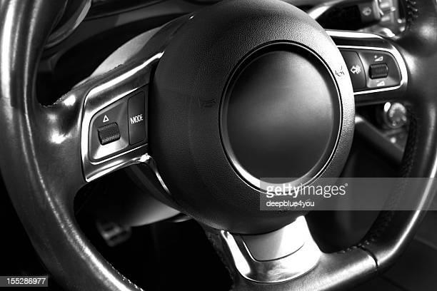 Sports car steering wheel