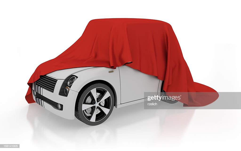 Sports car unveiling : Stock Photo
