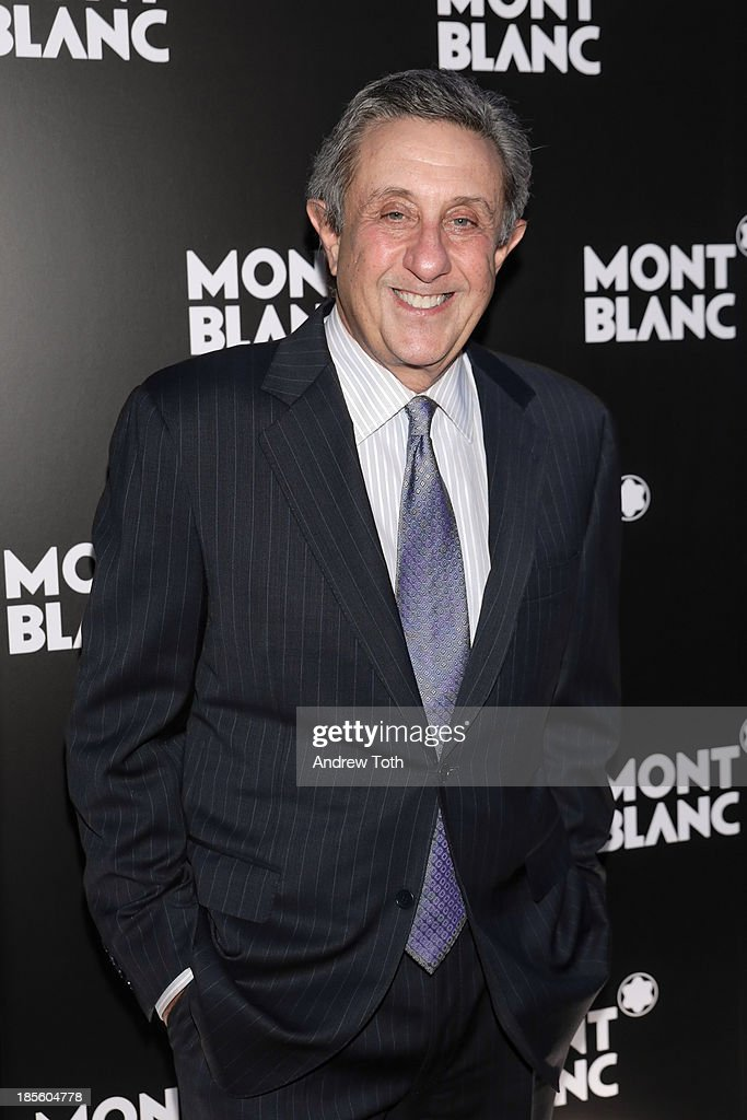 Sports caster Len Berman attends the Montblanc Madison Avenue store opening on October 22, 2013 in New York City.