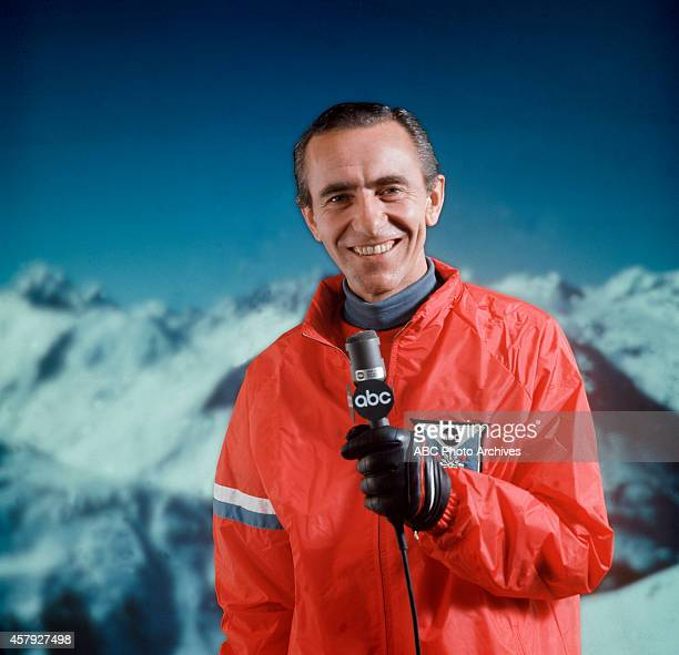 Sports commentator Chris Schenkel covers the 1968 Winter Olympics which were held in Grenoble France and opened on February 6 1988 Thirtyseven...