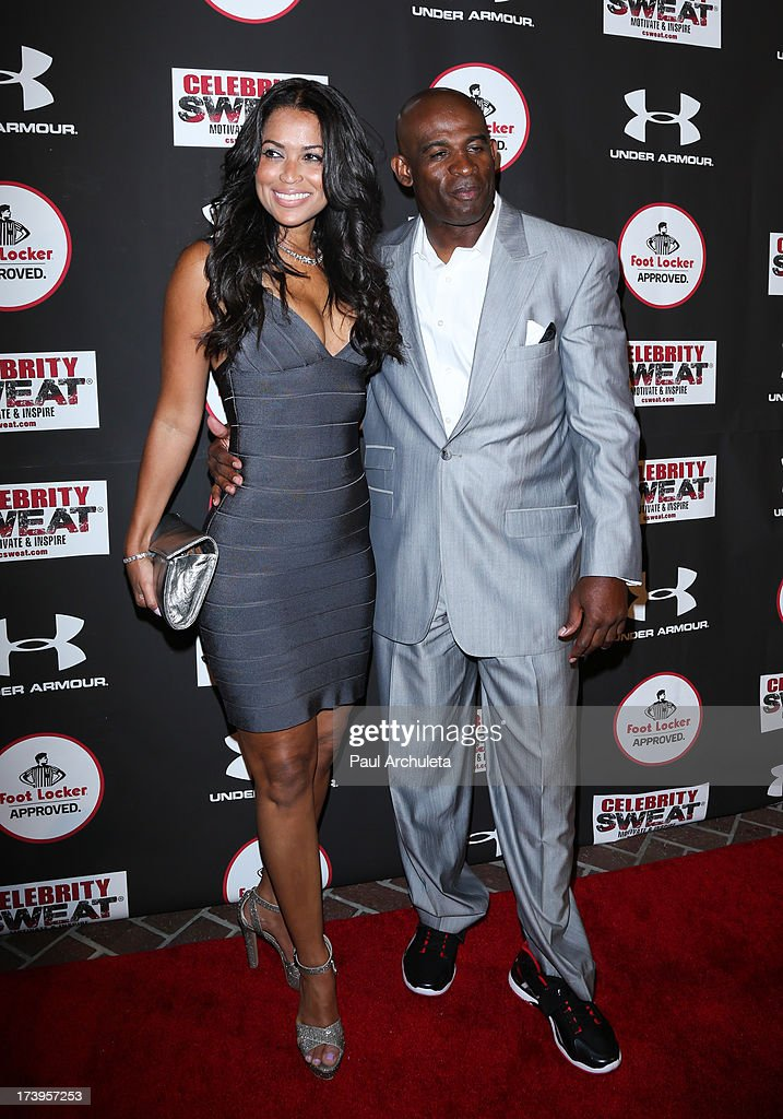 Sports Commentator Deion Sanders (R) attends the 2013 ESPYS after party on July 17, 2013 in Los Angeles, California.