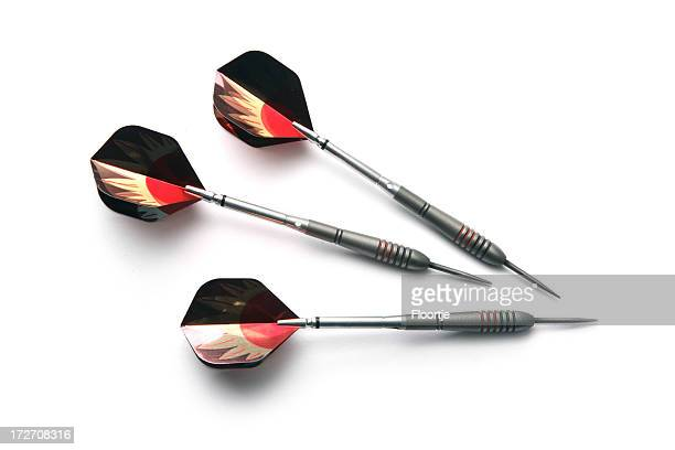 Sports: Darts Isolated on White Background
