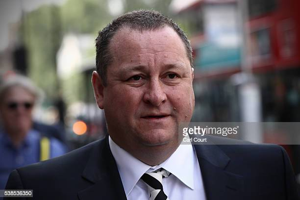 Sports Direct International founder Mike Ashley arrives to attend a select committee hearing at Portcullis house on June 7 2016 in London England...