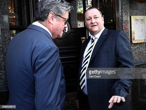 Sports Direct International founder Mike Ashley walks into the Red Lion pub in Westminster before attending a select committee hearing at Portcullis...