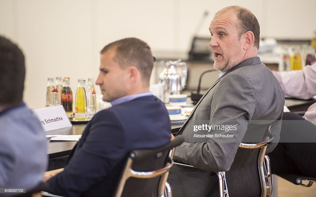 Sports Director <a gi-track='captionPersonalityLinkClicked' href=/galleries/search?phrase=Joerg+Schmadtke&family=editorial&specificpeople=673702 ng-click='$event.stopPropagation()'>Joerg Schmadtke</a> of 1. FC Koeln during the DFB referee's - round table at DFB Headquarter on June 29, 2016 in Frankfurt am Main, Germany.