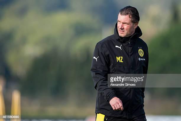 Sports director Michael Zorc of Borussia Dortmund during a training session at Borussia Dortmund training ground on January 15 2015 in LaManga Spain