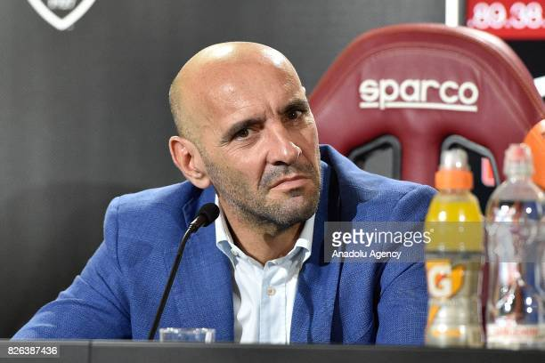 Sports director of AS Roma Ramon Rodriguez Verdejo Monchi attends a press conference at Fulvio Bernardini Sport Facility in Trigoria district of Rome...