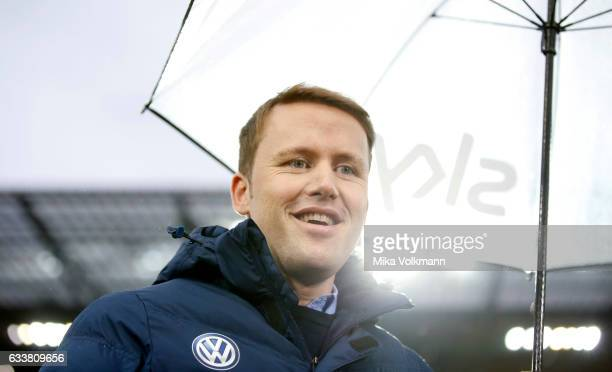 Sports director of Wolfburg Olaf Rebbe smiles prior the Bundesliga match between 1 FC Koeln and VfL Wolfsburg at RheinEnergieStadion on February 4...