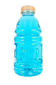 Blue sports drinks. Isolated.