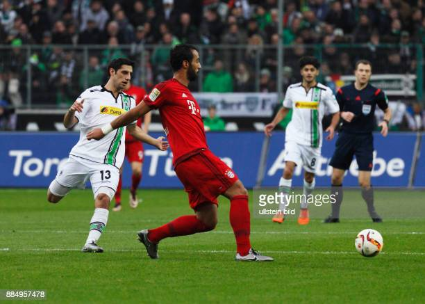 sports football Bundesliga 2015/2016 Borussia Moenchengladbach versus FC Bayern Muenchen 31 Stadium Borussia Park scene of the game fltr Lars Stindl...