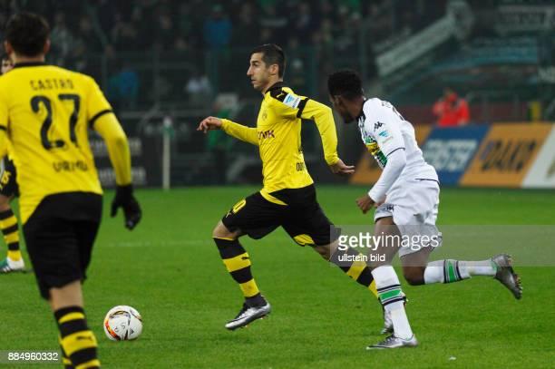 sports football Bundesliga 2015/2016 Borussia Moenchengladbach versus Borussia Dortmund 13 Stadium Borussia Park scene of the match Henrikh...