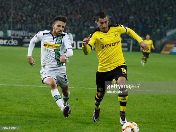 sports football Bundesliga 2015/2016 Borussia Moenchengladbach versus Borussia Dortmund 13 Stadium Borussia Park scene of the match Julian Korb left...