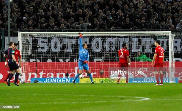 sports football Bundesliga 2015/2016 Borussia Moenchengladbach versus FC Bayern Muenchen 31 Stadium Borussia Park scene of the game 20 goal by Lars...