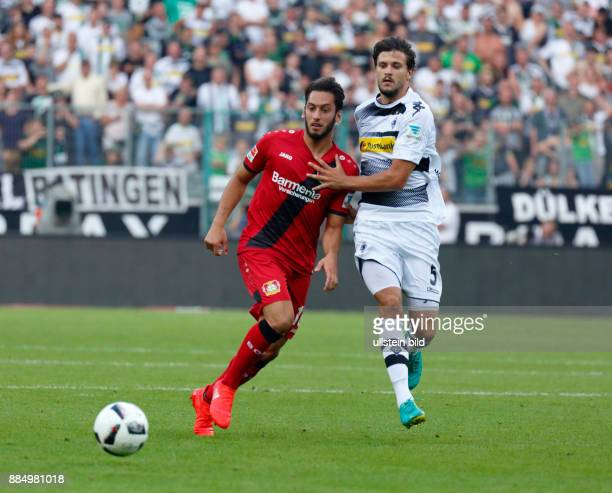 sports football Bundesliga 2016/2017 Borussia Moenchengladbach versus Bayer 04 Leverkusen 21 Stadium Borussia Park scene of the match Hakan...