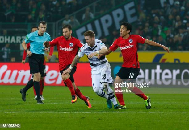 sports football Bundesliga 2016/2017 Borussia Moenchengladbach versus Eintracht Frankfurt 00 Stadium Borussia Park scene of the match fltr referee...