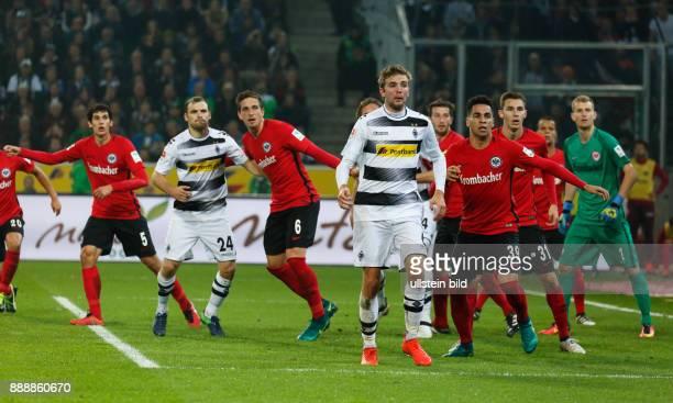sports football Bundesliga 2016/2017 Borussia Moenchengladbach versus Eintracht Frankfurt 00 Stadium Borussia Park scene of the match fltr Jesus...