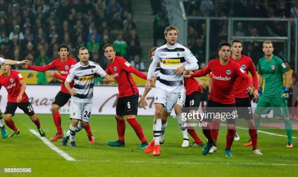 sports football Bundesliga 2016/2017 Borussia Moenchengladbach versus Eintracht Frankfurt 00 Stadium Borussia Park scene of the match fltr Makoto...