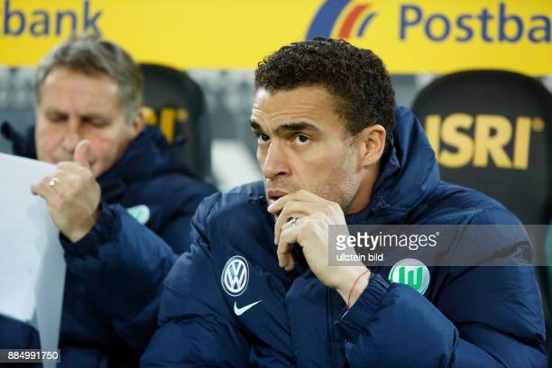 sports football Bundesliga 2016/2017 Borussia Moenchengladbach vs VfL Wolfsburg 12 Stadium Borussia Park coach Valerien Ismael
