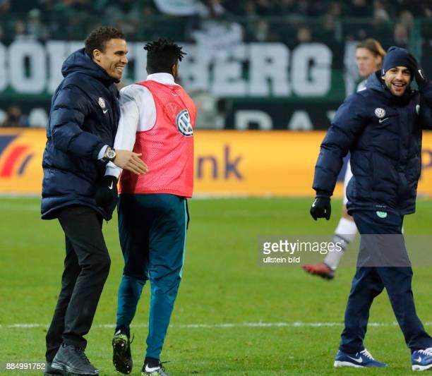 sports football Bundesliga 2016/2017 Borussia Moenchengladbach vs VfL Wolfsburg 12 Stadium Borussia Park coach Valerien Ismael L and Ricardo...