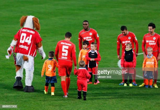 sports football Regional League West 2016/2017 Rot Weiss Oberhausen vs Rot Weiss Essen 22 Stadium Niederrhein in Oberhausen team RWO and runningin...
