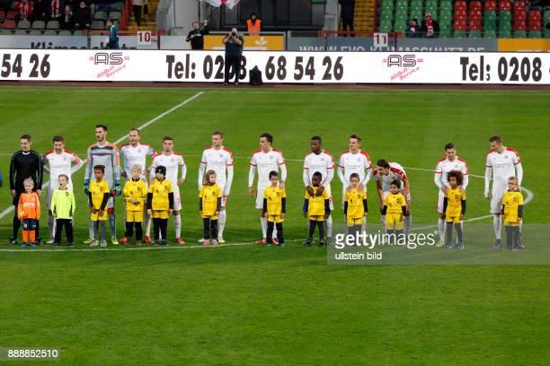 sports football Regional League West 2016/2017 Rot Weiss Oberhausen vs Rot Weiss Essen 22 Stadium Niederrhein in Oberhausen team Essen and runningin...