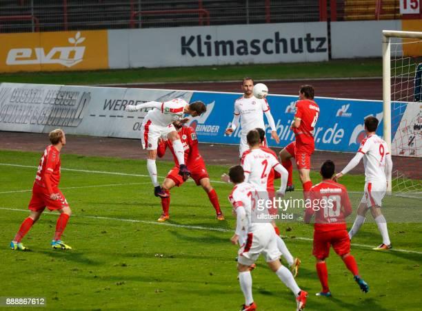 sports football Regional League West 2016/2017 Rot Weiss Oberhausen vs Rot Weiss Essen 22 Stadium Niederrhein in Oberhausen scene of the match...