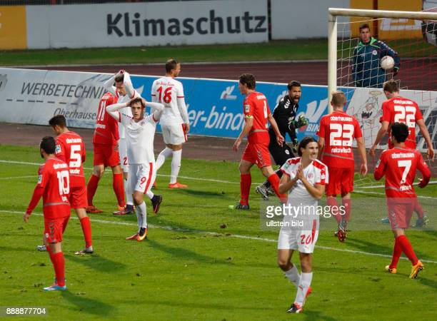 sports football Regional League West 2016/2017 Rot Weiss Oberhausen vs Rot Weiss Essen 22 Stadium Niederrhein in Oberhausen scene of the match missed...