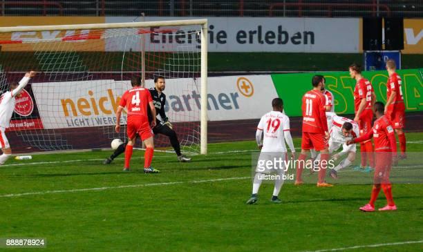 sports football Regional League West 2016/2017 Rot Weiss Oberhausen vs Rot Weiss Essen 22 Stadium Niederrhein in Oberhausen scene of the match 11...
