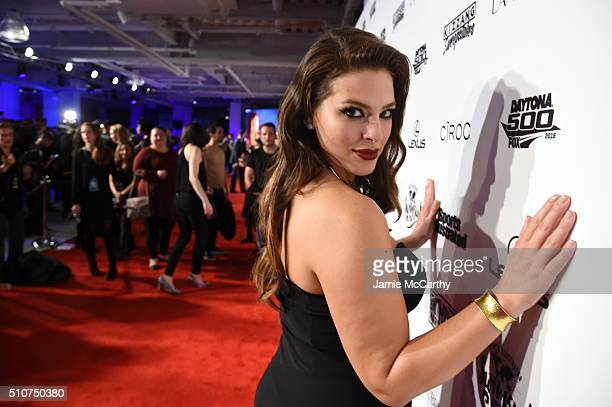 Sports Illustrated cover model Ashley Graham poses at the Sports Illustrated Swimsuit 2016 NYC VIP press event on February 16 2016 in New York City