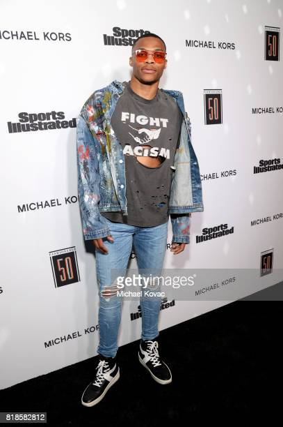 Sports Illustrated Fashionable 50 honoree Russell Westbrook at Sports Illustrated 2017 Fashionable 50 Celebration at Avenue on July 18 2017 in Los...