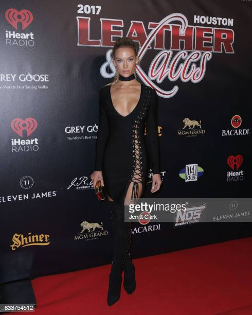 Sports Illustrated Model Hannah Ferguson attends the 4th Annual 'Leather Laces' Spectacular During Super Bowl LI Weekend at Hughes Manor on February...