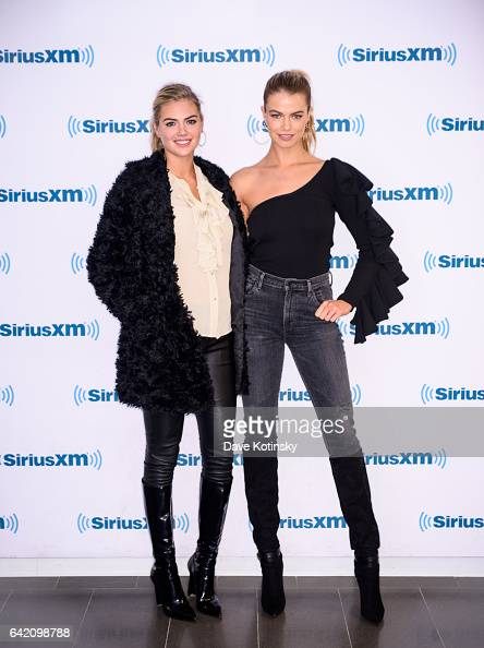 Sports Illustrated Models Kate Upton and Hailey Clauson arrive at SiriusXM Studios on February 16 2017 in New York City