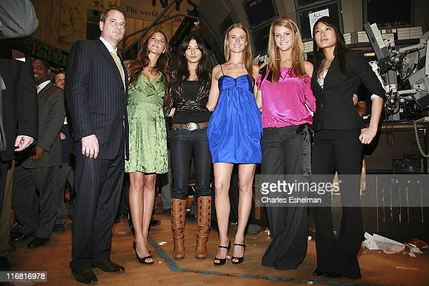 Sports Illustrated President Mark Ford and Sports Illustrated Swimsuit models Daniella Sarahyba Jessica Gomes Julie Hensedson Brooklyn Decker and...
