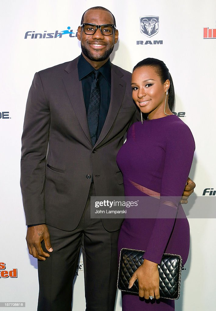 Sports Illustrated Sportsman of the year <a gi-track='captionPersonalityLinkClicked' href=/galleries/search?phrase=LeBron+James&family=editorial&specificpeople=201474 ng-click='$event.stopPropagation()'>LeBron James</a> and <a gi-track='captionPersonalityLinkClicked' href=/galleries/search?phrase=Savannah+Brinson&family=editorial&specificpeople=4319994 ng-click='$event.stopPropagation()'>Savannah Brinson</a> attend the 2012 Sports Illustrated Sportsman of the year award presentation at Espace on December 5, 2012 in New York City.