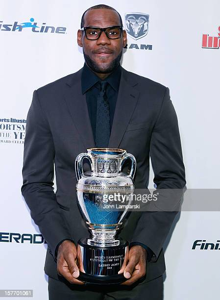 Sports Illustrated Sportsman of the Year LeBron James attends the 2012 Sports Illustrated Sportsman of the Year award presentation at Espace on...